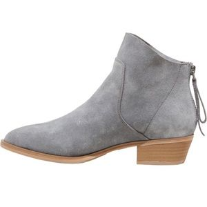 Dedra Suede Leather Metallic Booties
